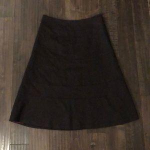 REBECCA TAYLOR Wool Midi Skirt
